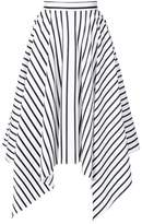 ADAM by Adam Lippes striped asymmetrical skirt