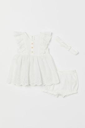 H&M 3-piece Jersey Set - White