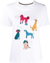 Paul Smith dog print round neck T-shirt