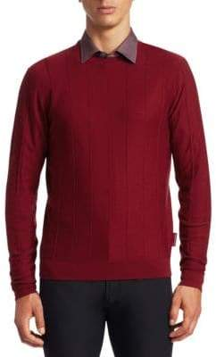 Emporio Armani Vertical Stitch Crew Sweater