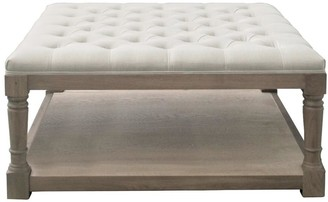 S & G Imports Buttoned Ottoman/coffee Table