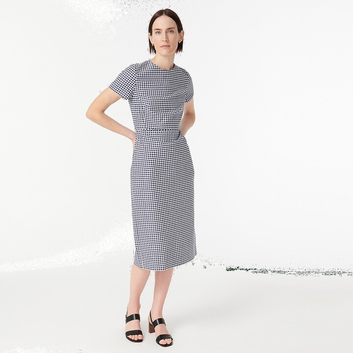 Thumbnail for your product : J.Crew Petite sheath dress in gingham bi-stretch cotton