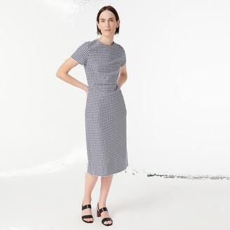 J.Crew Sheath dress in gingham bi-stretch cotton