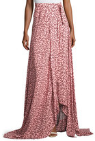 Alexis Corinna Floral-Print Tie-Side Maxi Skirt, Pink