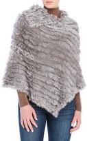 Surell Real Fur Poncho