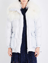 Sacai Faux-fur shell jacket