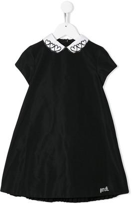 Fendi Heart Collar Party Dress