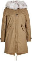 Woolrich Cotton Parka with Fur-Trimmed Hood