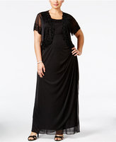 MSK Plus Size Gown and Beaded Jacket