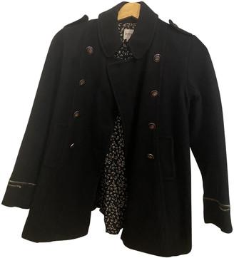 HUGO BOSS Blue Wool Trench coats