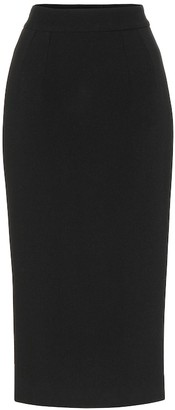 Dolce & Gabbana Wool-crepe pencil skirt