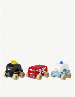 Selfridges London First Vehicles wooden toy vehicles set of three 1 years+