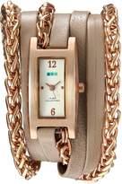 La Mer Women's Quartz Gold and Leather Automatic Watch, Color:Beige (Model: LMPALERMO1002)