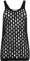 Marni Black Knitted Mesh Tank Top