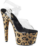 Pleaser USA Women's Bejeweled 708LP Ankle Strap Sandal