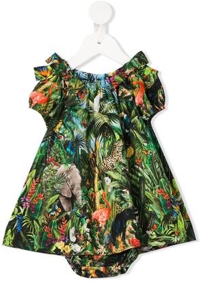 Dolce & Gabbana Kids Tropical Print Dress