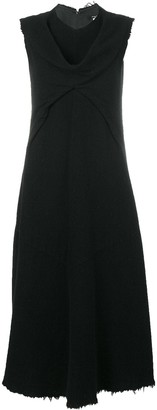 Junya Watanabe Comme Des Garçons Pre Owned Frayed Sleeveless Dress