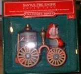Hallmark Santa's Fire Engine 1985 Here Comes Santa Keepsake Ornament