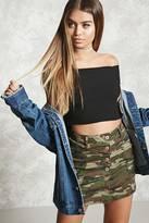 Forever 21 Camo Print Mini Skirt