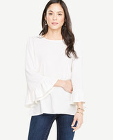Ann Taylor Wide Sleeve Ruffle Cuff Top