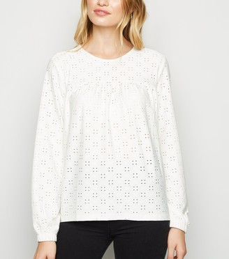 New Look JDY Broderie Top