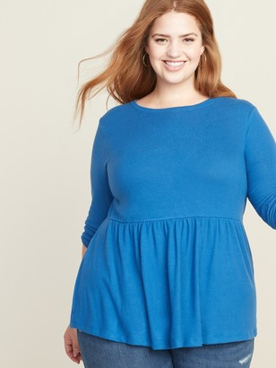 Old Navy Plus-Size Plush-Knit Peplum-Hem Top