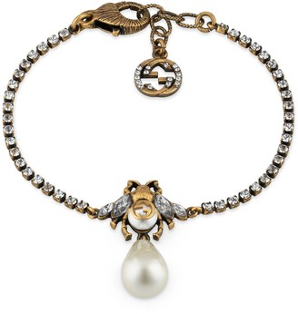 Gucci Bee bracelet with pearl