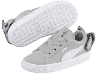 Puma Suede Bow Childrens Trainers