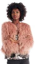 Sole Society Cropped Faux Fur Jacket