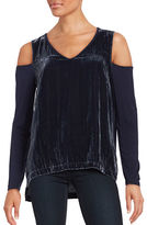 Context Solid Cold Shoulder Top