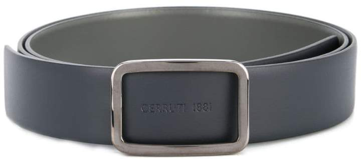 Cerruti embossed logo belt