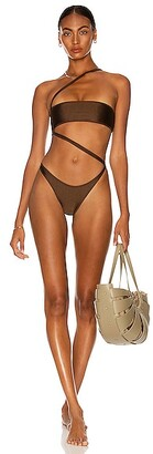 Melissa Simone Zara One Piece Swimsuit in Brown