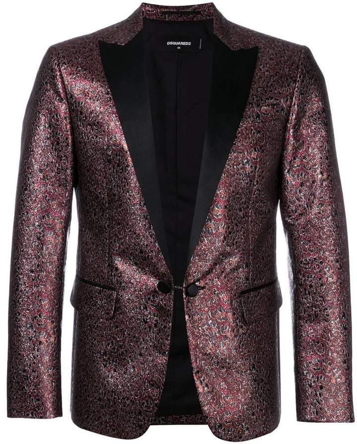 DSQUARED2 metallic leopard pattern blazer