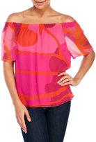 Ramy Brook Jessa Mod Print Silk Top