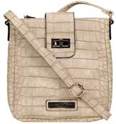 Wilsons Leather Womens Web Buster Croco Faux-Leather Crossbody