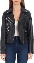 AVEC LES FILLES Leather Biker Jacket