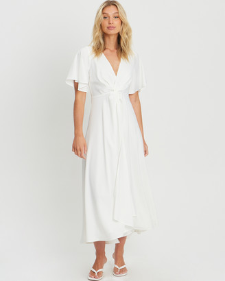 CHANCERY - Women's White Bridesmaid Dresses - Ava Twist Dress - Size One Size, 8 at The Iconic