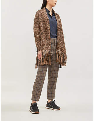 Brunello Cucinelli Sequin-embellished knitted cardigan
