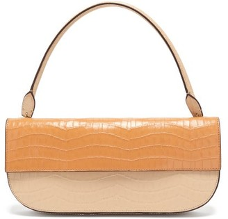 Danse Lente Baguette Crocodile-effect Leather Shoulder Bag - Womens - Beige Multi