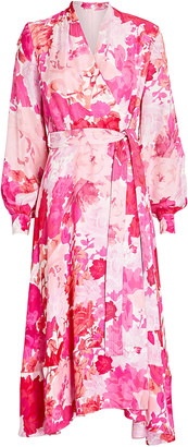 Stine Goya Reflection Floral Wrap Dress