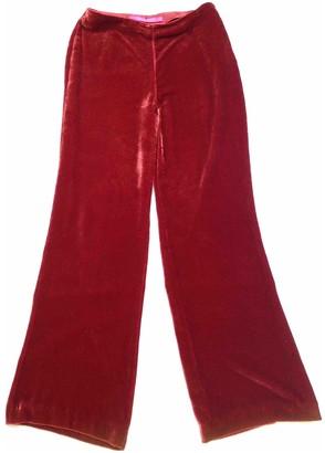 Ungaro Red Velvet Trousers for Women Vintage