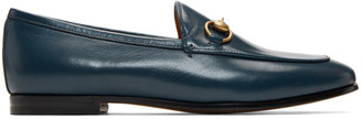 Gucci Blue Jordaan Loafers