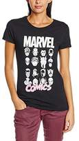 Marvel Women's Multi Head T-Shirt