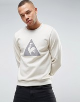 Le Coq Sportif Beige Sweatshirt With Large Logo in Beige 1711094