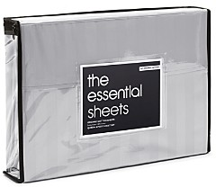 Bloomingdale's Essentials Organic Dobby Stripe Sheet Set, Queen - 100% Exclusive