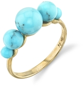 Irene Neuwirth Kingman Turquoise Sphere Ring - Yellow Gold