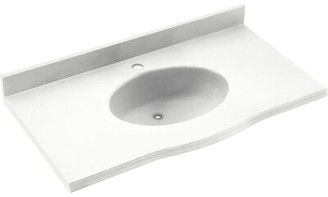 """Swan Europa Solid Surface 25"""" Single Bathroom Vanity Top Top Finish: White"""