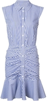 Veronica Beard Striped Ruched Dress