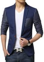 Liveinu Men's Fashion Slim Fit Suit Jacket Blazer 2XL