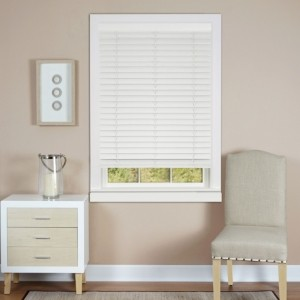 "Achim Cordless Madera Falsa 2"" Faux Wood Plantation Blind, 39x64"